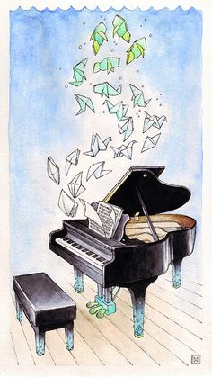 Piano Lesson Poster Free Printable Lessons For Beginners For Kids Product Music Drawings, Music Artwork, Art Music, Art Drawings, Drawing Piano, Piano Art, Watercolor Print, Watercolor Paintings, Musik Illustration