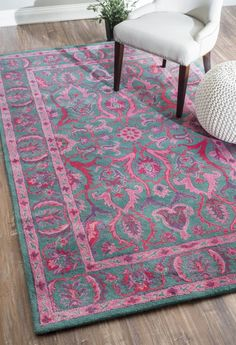 nuLOOM Hand Tufted Kimberly Overdyed style rug Area Rug, Multi, x Teal Rug, Pink Rug, Hand Tufted Rugs, Rugs Usa, Traditional Rugs, Online Home Decor Stores, Wool Area Rugs, Floor Rugs, House Styles