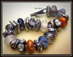 Rutile quartz, agate dendritic, chalcedony and stone flower GORGEOUS!!! By Deborah Taylor