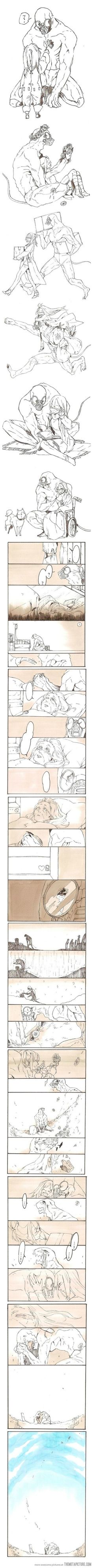 My best friend - I wish I knew who drew this, but it makes me cry every time I look at it. It is so beautiful...