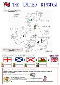 English Worksheets: The United Kingdom English Resources, English Activities, English Lessons, French Lessons, Spanish Lessons, English Vocabulary, English Grammar, Teaching English, Teaching Spanish