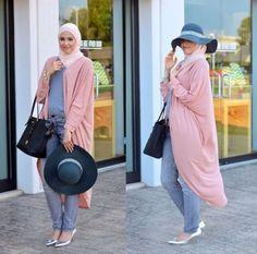 maxi cardigan hijab look, Winter hijab street styles by leena Asaad http://www.justtrendygirls.com/winter-hijab-street-styles-by-leena-asaad/