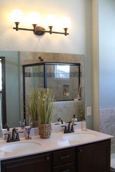 Master Bath in Tim O'Brien Homes' Evergreen Model Home.