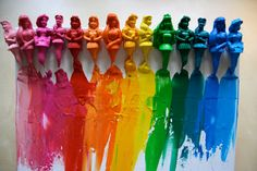 melted-princess-crayons-canvas-Disney-rainbow-craft-pink-and-green-mama-blog