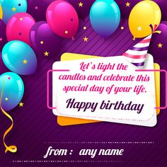 8 Best Birthday Card With Name Images In 2019