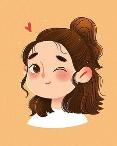 Cartoon Girl Images, Cute Cartoon Drawings, Girly Drawings, Cool Art Drawings, Cartoon Art Styles, Girl Cartoon, Cartoon Ideas, Japon Illustration, Illustration Art Drawing