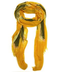 Look what I found on #zulily! East Cloud Yellow Tie-Dye Scarf by East Cloud #zulilyfinds