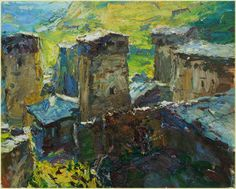 "Ulrich Gleiter | ""Middle Ages, Svaneti, Georgia"" I Oil, 19 x 25"""