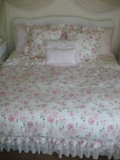 love her custom bedding pieces~material from R Ashwell