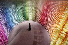 Emmanuelle Moureaux cria instalação para celebrar o centenário da empresa NSK Ltd,© Daisuke Shima