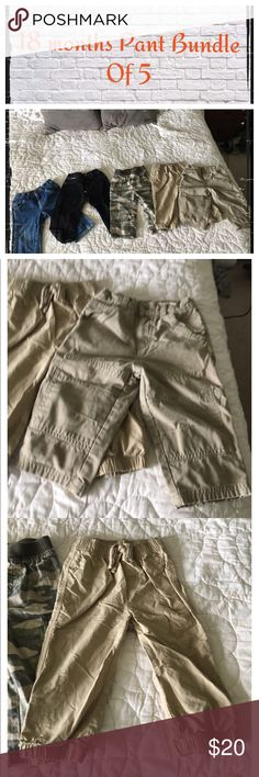 Boys 18 month Bundle of 5 Bottoms Gently worn, normal wash wear.                                     ❇️ Reasonable Offers Only Please ❇️ Smoke and pet free ❇️ If this is a bundle, I WILL NOT break it up and sell    separately ❇️ I do not model anything; I will provide measurements if needed.  ❇️ Please do not hesitate to ask questions, 👍.         ❇️ NO HOLDS, NO TRADES, POSH RULES ONLY! Circo Bottoms Casual