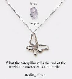 Butterfly+Necklace+Jewelry | ... | Designers | b.u. Jewelry | b.u. Inspirational Butterfly Necklace