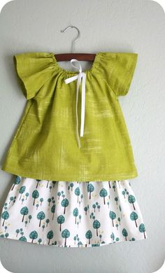 little green top and tree skirt