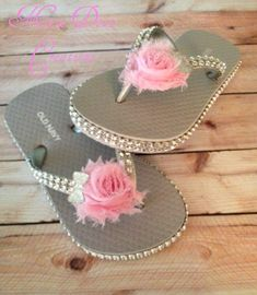 Girl silver bling flip flops available on our FB page Mini Diva Creations.