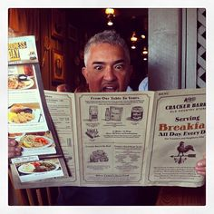 Cracker Barrell is a MUST for Cesar when on tour.