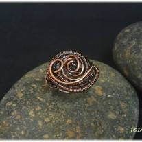Copper wire ring  US size: 6-