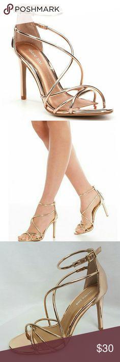 391e0dab8cb Gianni Bini Talisia Rose Gold Dress Sandals 7.5 Gianni Bini dress sandals.  Style is Talisia