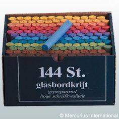 Mercurius USA - Blackboard chalk - 12 colours assorted - 144 pieces