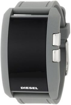 Diesel Watches Mens Gray Color Domination LED Digital Black Dial Watch (Grey) $72.86