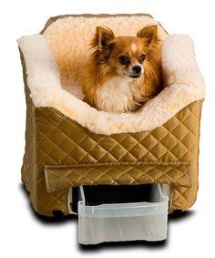 Love this Snoozer Pet Products Khaki & Cream Snoozer Lookout II Pet Car Seat by Snoozer Pet Products on #zulily! #zulilyfinds
