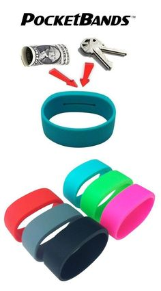 PocketBands - Wristbands With a Hidden Pocket - OhGizmo! :)