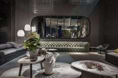 Диваны Chestermoon (посередине) и новинка этого года - диван Miami (справа и слева) новые кресла с алюминиевой спинкой (справа) - Roma  #baxtermadeinitaly #fuorisalone #fuorisalone2016#salonedelmobile #salonedelmobile2016 #isaloni#isaloni2016 #design #baxtersalone2016 #design #madeinitaly #italiandesign #cделановиталии #итальянскийдизайн #бакстер by flat_interiors