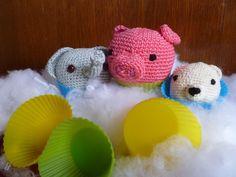 Mmmm, lekker, cupcakes! Geef toe, ze zien er uit om op te vreten, mijn gehaakte dieren cupcakes!