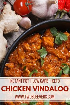 Chicken Vindaloo | Instant Pot Recipes | Low Carb Recipes | Low Carb Chicken Recipes | Keto Recipes | Indian Recipes | International Recipes | Two Sleevers | #twosleevers #chicken #vindaloo #lowcarb #instantpot