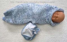 "Ravelry: Baby Cocoon For A Newborn pattern by Bronislava Yarn 4 Needles US8 14"" X 16"""
