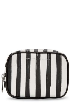 Flower Paint Large Box Striped Cosmetic Case detail 0
