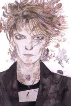 David Bowie by Yoshitaka Amano So amazing.