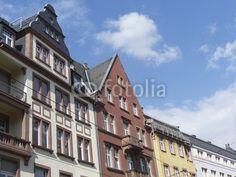 Sanierte Häuserzeile in der Braubachstraße in Frankfurt am Main in Hessen