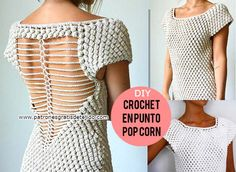 como-tejer-vestido-punto-pop-corn.jpg (600×439)