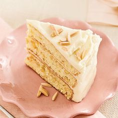 Toasted Almond-Butter Cake With A Sweet Cream Cheese Frosting  +MyRecipes.com Recipe & Video <3