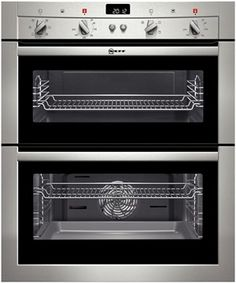 Neff double oven with circotherm and slide and hide oven door #mydreamkitchen @KitchenDoorWorkshop