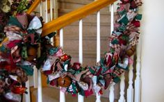 Christmas Fabric Garland taken from 4allseasons on Etsy