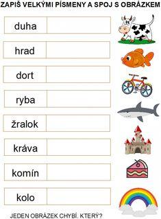 Produkt - Přechod z velkých na malá písmena Preschool Phonics, Baby Time, Teaching English, Activities For Kids, Alphabet, Homeschool, Playing Cards, Education, Games