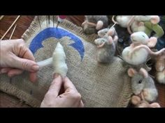 Needle Felted Sleepy Mice - YouTube