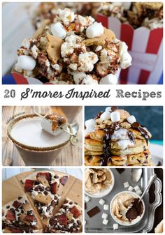 From ice cream to breakfast treats to a boozy cocktail, you are sure to find a recipe to satisfy your s'mores addiction in these 20 S'mores Inspired Recipes.