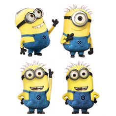 Despicable Me Minions Set of 4 Removable Wall Stickers