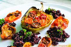 Gefüllte Paprika mit Camargue Reis