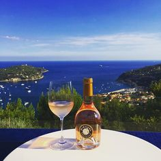 Mini Miraval with an endless view - when in the south of France, Provençal rosé is a must.  #cutestbottle #singleserving #wine #rosé #lavieenrose #happiness #sommtravels #roséallday