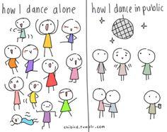Bij biodanza dansen we lekker samen zoals we in ons eentje zouden dansen!