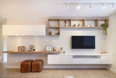 Living Room Wall Units, Living Room Tv Unit Designs, Living Room Decor, Bedroom Decor, Living Rooms, Home Room Design, Home Office Design, Tv Unit Furniture Design, Tv Furniture