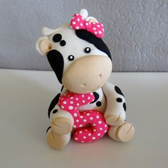 Cow Cake Topper for Birthday or Baby Shower.