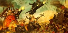 """thunderswarehouse:  """"Well, it's high time we payed our debt."""" ~ Colonel Boskalev, minutes before the Vostroyan 167th Armored made their last stand in Hive Kalthimar. AVicious,but short lived, counter assault against the invading forces of Chaos."""