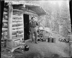 A Pikes Peak Prospector, Colorado by William Henry Jackson, 1900