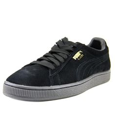 b2be471d722 Puma Suede Classic Men s Fashion Sneakers Shoes Black Size The Puma Suede  Classic Mono Reflced Athletic feature a Suede upper with a Round Toe .