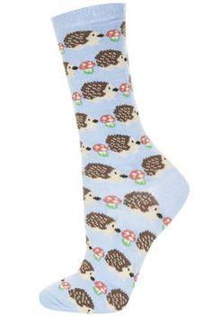 Hedgehog Mushroom Ankle Socks - Tights & Socks  - Clothing