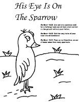 His Eye Is On The Sparrow Sunday School Lesson